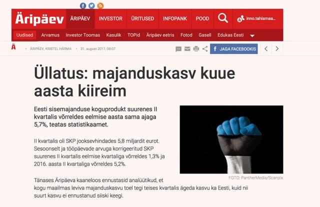 Soome vedas ka Eesti kasvule