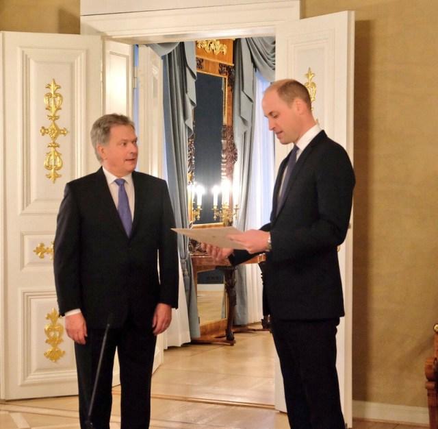 Prints William andis Soome presidendile üle tervituse kuningannalt