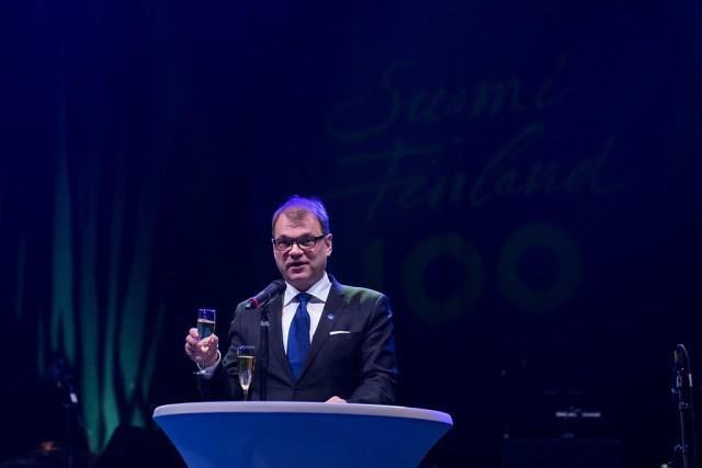 Talvesõda oli ime – peaminister Juha Sipilä kõne Soome 100. aastapäeva puhul Lahtis