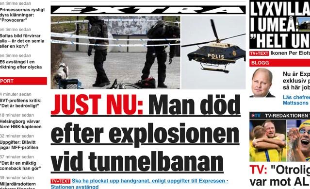 Stockholmi plahvatuses viga saanud mees suri