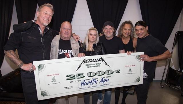 Metallica annetas Soome toidupangale 25 000 eurot