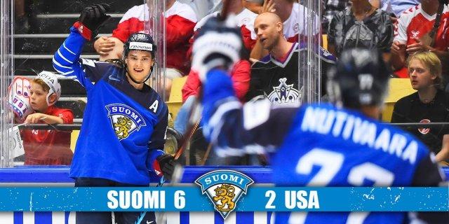 Soome alistas hoki MM-il USA 6:2