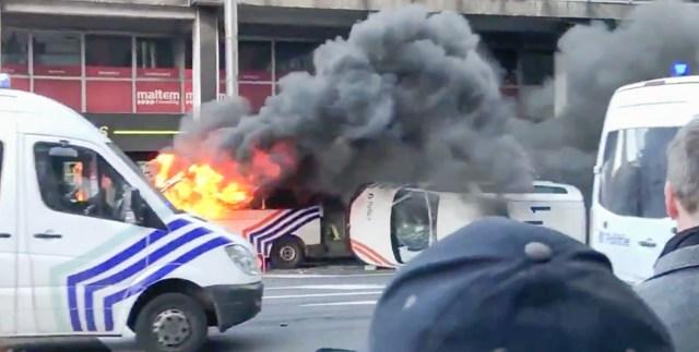 MÄSS BRÜSSELIS: Kollaste vestide meeleavaldus laienes Belgiasse