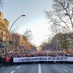 Barcelonas marssisid täna sajad tuhanded Kataloonia iseseisvuse kaitseks