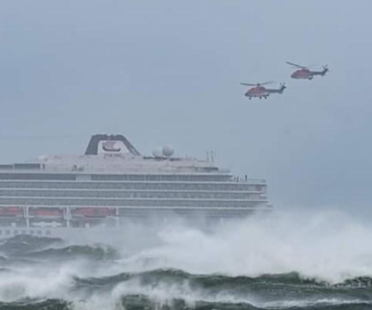 Merehädas Norra kruiisilaevalt jõuti evakueerida 470 inimest