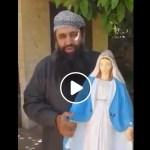 Kole video: arvatav moslem lööb puruks Neitsi Maarja kuju