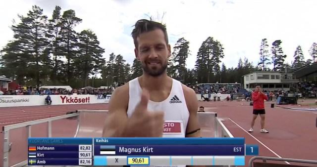 Eesti odaviskaja uuendas Soomes Eesti rekordit