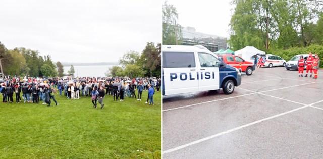 Tampere politsei on viinud juba kainenema mitmeid noorukeid