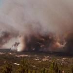 Karmid pildid: Portugalis on tule front 8 km pikkune