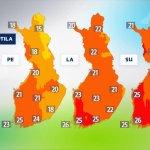 Soomes läheb ilm väga soojaks, kuum ilm jõuab isegi Lapimaale
