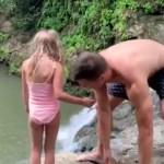 Kas nii tohib? Veebis lööb laineid video, kuidas isa tõmbab lapse kõrgelt kaljult vette