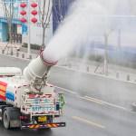 Selgus Hiina tänavate pritsimise põhjus: desinfitseeritakse kanalisatsioonisüsteeme