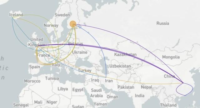 Teadlased tegid kindlaks, et koroonaviirus levis Hiinast Londonisse ja sealt edasi mujale Euroopasse, kaasa arvatud Soome