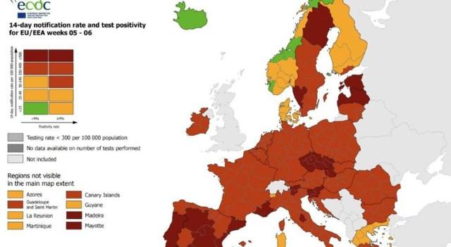 Kole lugu: Eesti on kerkinud koroonaga nakatumiste arvult Euroopas teiseks, Soomes on tase väga madal (lisatud suur tabel Euroopa kohta)