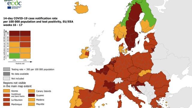 Koroona ülevaade Euroopas: Soome seis jätkuvalt parim, Eesti oma üks kehvemaid