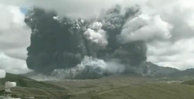 VIDEO: Jaapanis hakkas purskama maailma suurim vulkaan