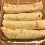 enchilada in schaal