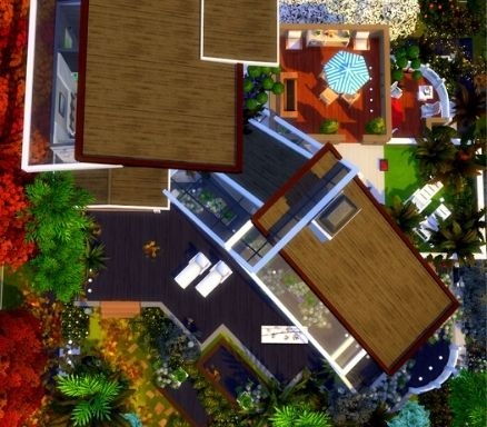 In detail, the roof view the sims 4