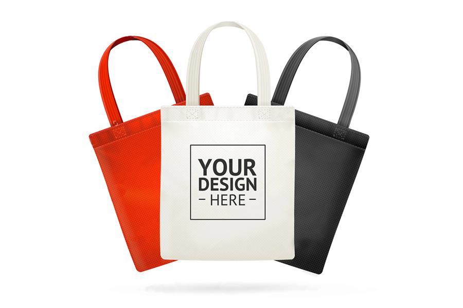 紅、白、黑三色購物袋客製成品
