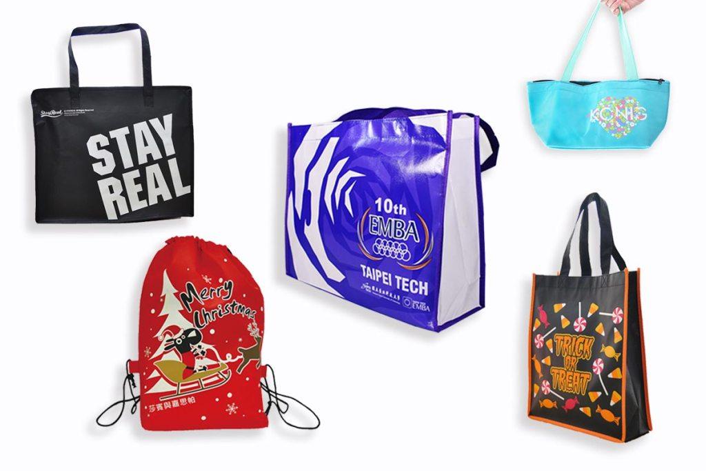 購物袋客製款式:束口袋、保冷袋、提袋