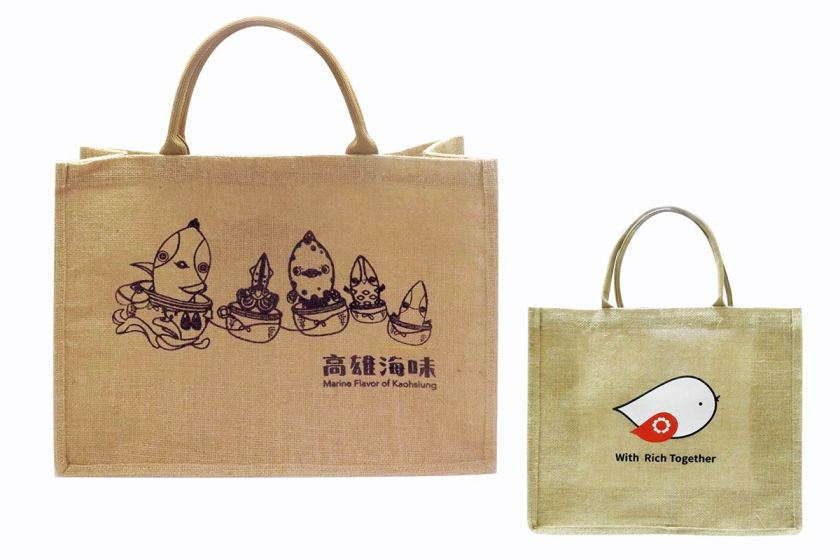 麻布手提袋客製 - 大容量耐重收納袋-誼源國際