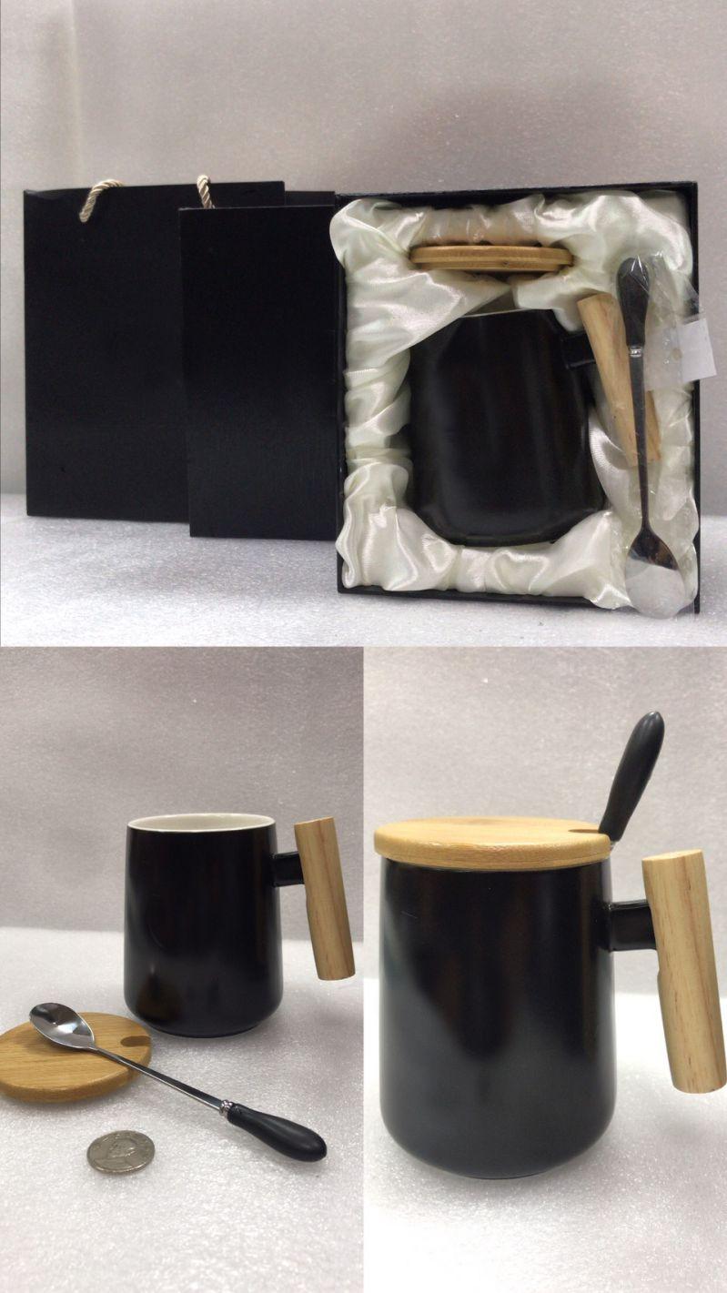 股東會紀念品推薦-北歐風 馬克杯禮盒套組(黑)
