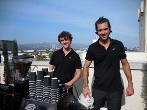 Coffee Break! Adam and Leon of Longshot Coffee. Such rich and tasty coffee!