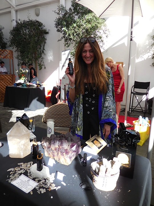The lovely Gamily Smith, Editor and Creative Director of Shangri-LA of Luxury with some whimsical products from Spellbound Sky