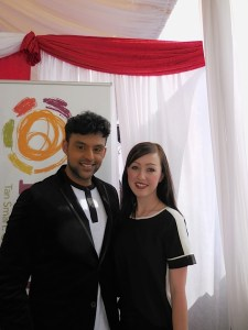 Actor Nirav Bhakta with Jade of Simone Salon