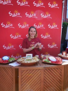 Maxine Renning of Sabra serves some tasty treats.