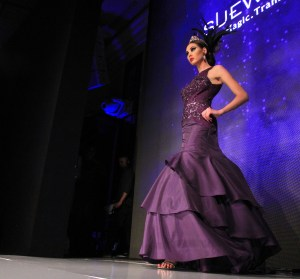 Purple passion…model in a show stopping Purple gown. Photo courtesy of Winston Burris/Burris Agency