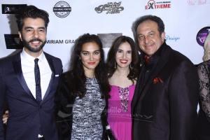 Dr. Pedram Navab, Nadia Davari, yours truly EE's Vida G. and Anoush on the red carpet. Photo courtesy of Bob Delgadillo