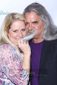 Actress Mo Kelly playfully tugs actor Scott Engrottis' beard. Photo courtesy of Bob Delgadillo