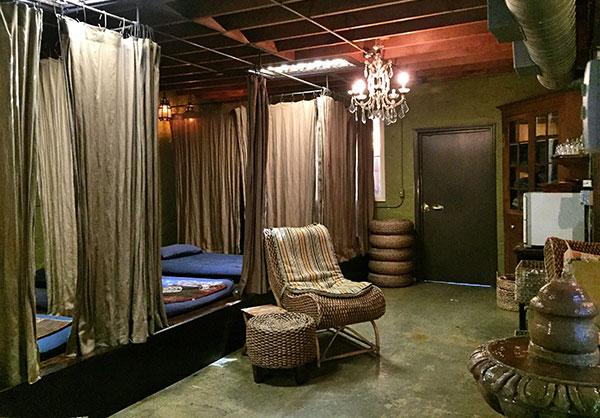 Inside - massage area
