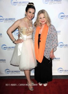 Vida and her good friend noted actress Suze Lanier-Bramlett on the red carpet. Photo courtesy of Albert L. Ortega/GettyImages