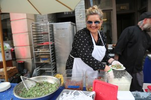 Jessica from the Independence restaurant in Santa Monica serving up a tasty kale salad