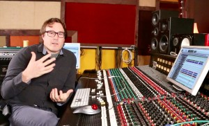 Legendary producer, Cameron Webb in the studio