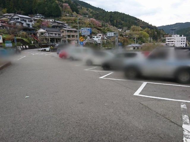 道の駅大杉の駐車場