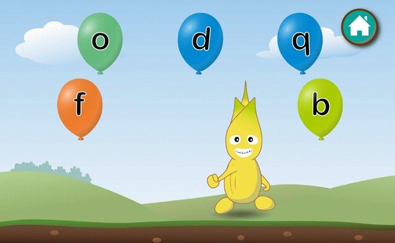 英語教育アプリABC Goo Bee:アルファベットを選ぶゲーム2