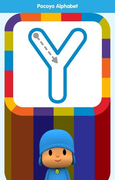 アプリPocoyo Alphabet:なぞり書き練習