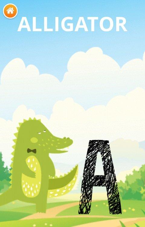 アニマルABC&フォニックス幼児英語アプリ:学習画面
