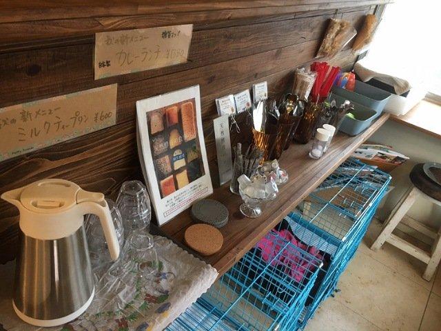 豆柴ドッグカフェmomoca:カフェコーナーのようす