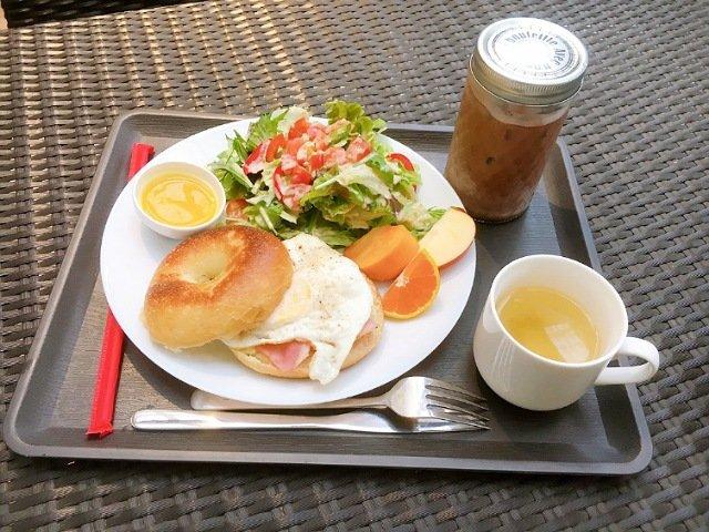 豆柴ドッグカフェmomoca:ベーグルセット