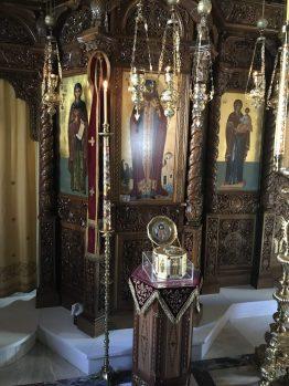Το εσωτερικό του Ιερού Ναού της Αναλήψεως του Σωτήρος, στην Σίψα της Δράμας