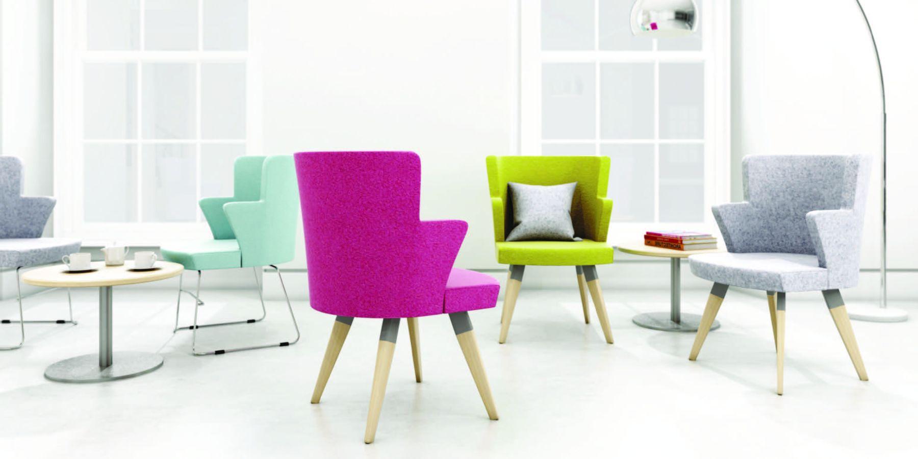modular soft singular bright coloured chairs