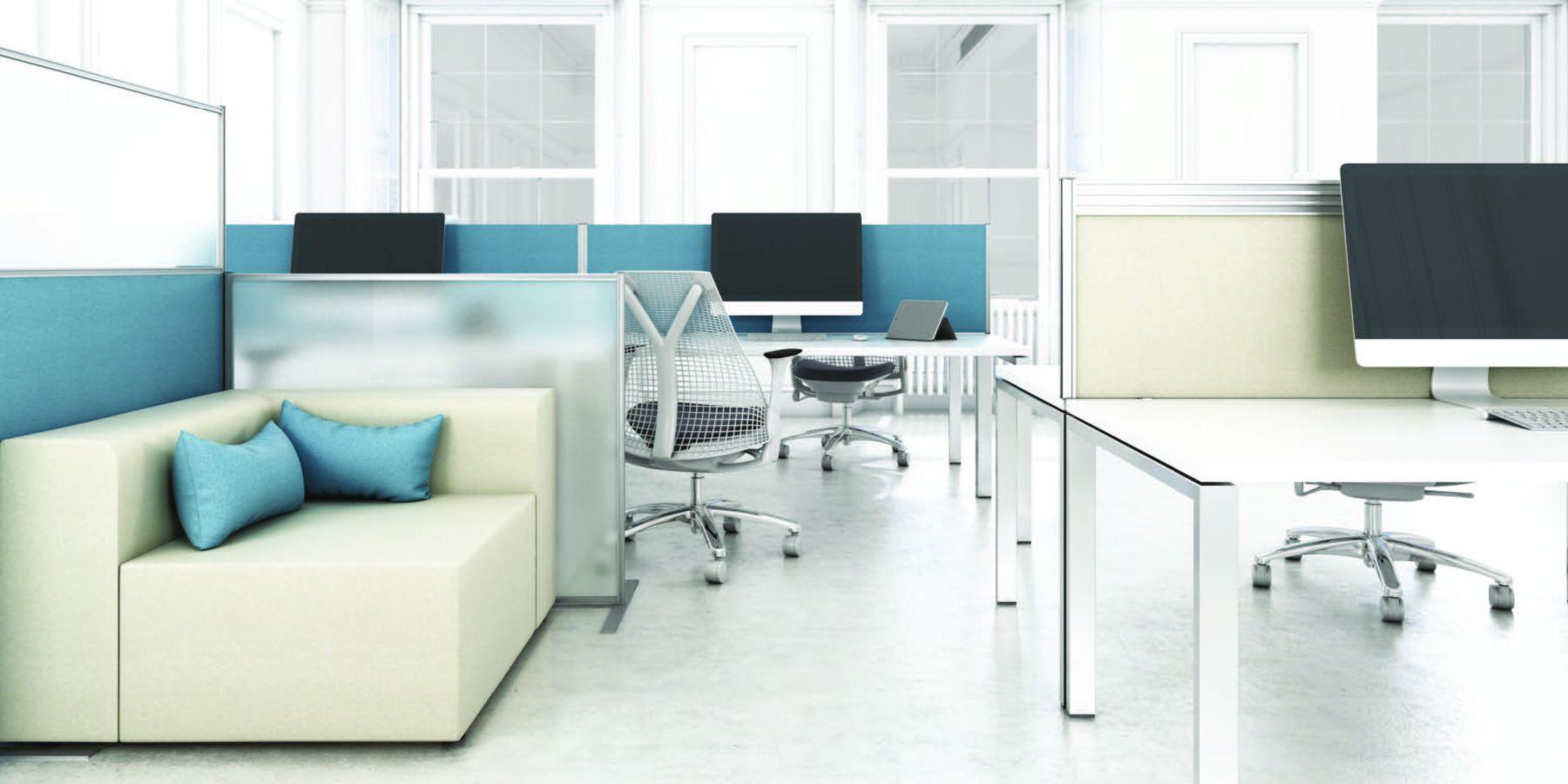 modular soft office style area