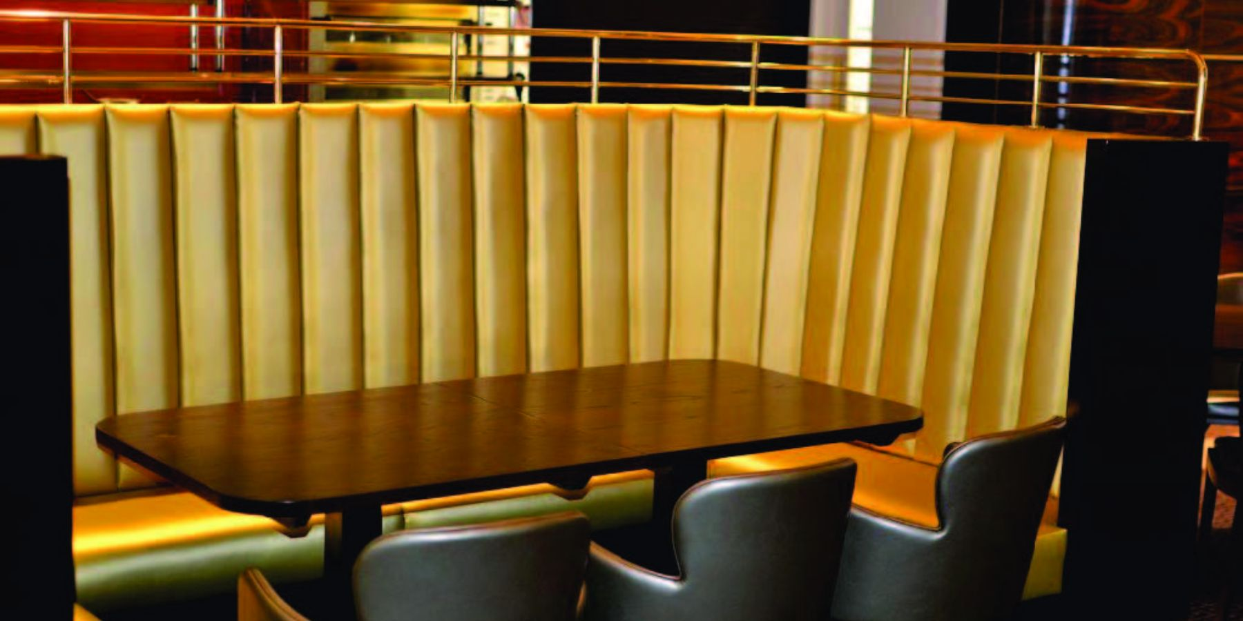 gold seating leather faux