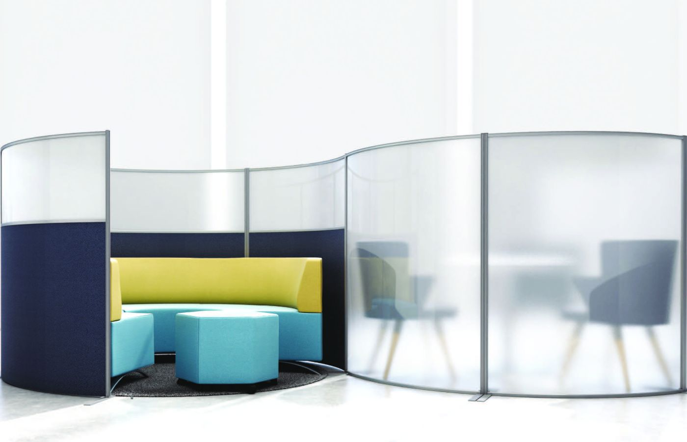 booth area for office and breakout