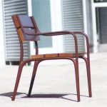 single outdoor wooden chair