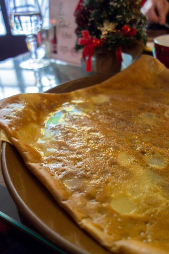 crepe au froment beurre sucre